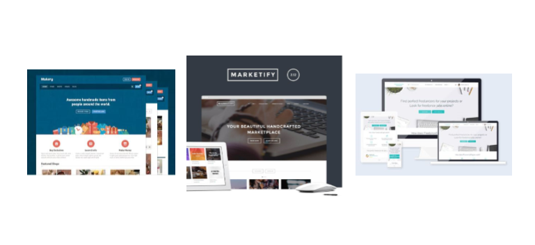 Recommended WordPress themes for marketplaces : Marketify, Makery and Freelance Engine