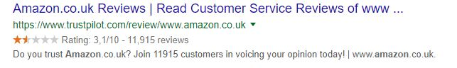 e-commerce giant Amazon UK scores badly on Trustpilot because of bad customer service and poor quality products. Don't let this happen to your online marketplace.