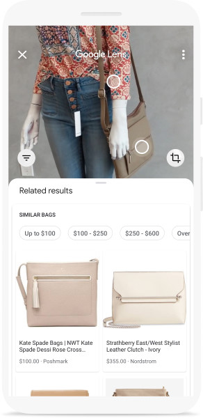 Google Lens image recognition technology opens up new possibilities for online shopping