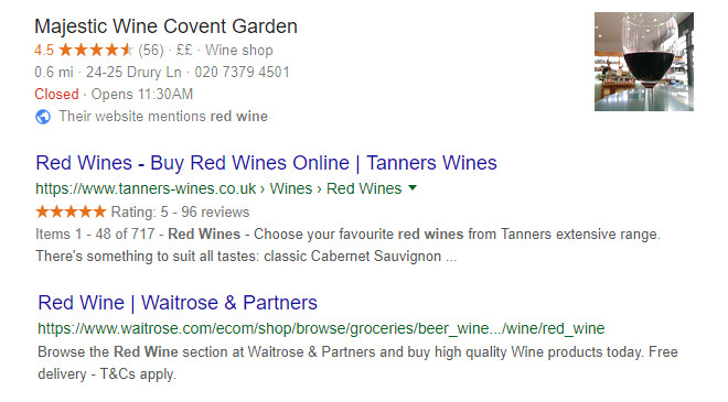Structured data allows rich snippets in search results