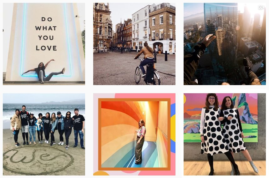 90% of WeWork's Instagram content is user-generated.